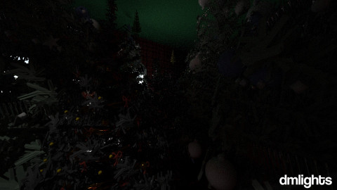 storage room XMAS trees - by DMLights-user-1040449