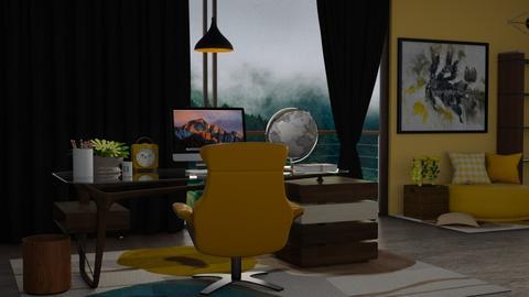 yellow working space - by nitya_avvari