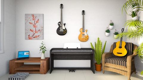 The Room of an Artist - Rustic - Bedroom  - by TonyMalteada