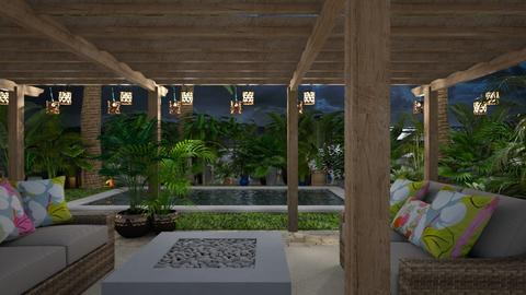 Tropical Getaway - Garden  - by Feeny