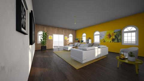 Sunflower living room - Living room  - by Chayjerad