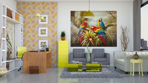 Office em tons de yellow - Office  - by Alecio
