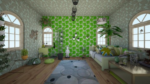 leafy room - Country - Bedroom  - by wildvioletkiss