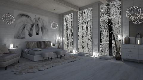 WINTER IN THE WOODS - Feminine - Bedroom  - by RS Designs