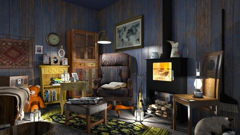 Grandpa s - Vintage - Living room  - by MonicaMV