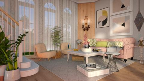 Touch of pink - Living room  - by Just Bee
