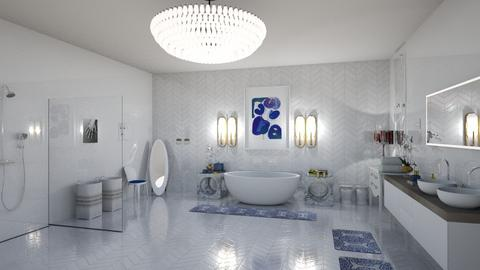 mid century bathroom - Glamour - Bathroom  - by sephara