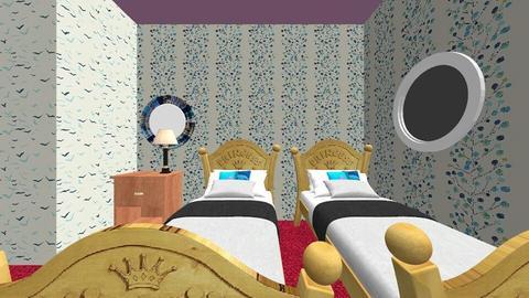 Bilik Mia and Ica - Minimal - Kids room  - by abigel97