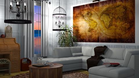 Travel themed living room - Living room  - by nat mi