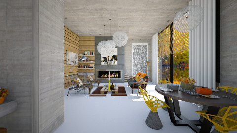 autumn - Modern - Living room  - by Evangeline_The_Unicorn
