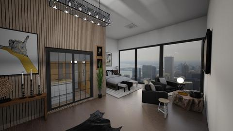 Wood_Clad Beauty - Rustic - Living room  - by mmt_regina_nox