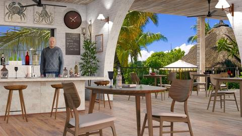 Tropical Bar - Eclectic - by Sally Simpson