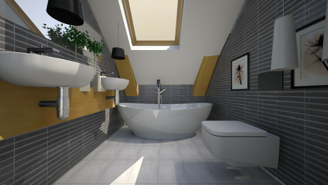 Putney in my style - Modern - Bathroom  - by Evangeline_The_Unicorn