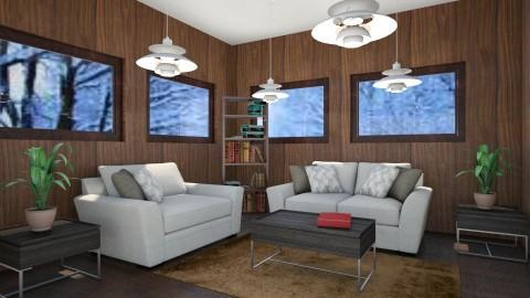 Mountain Ski Lodge - Rustic - Living room  - by millerfam