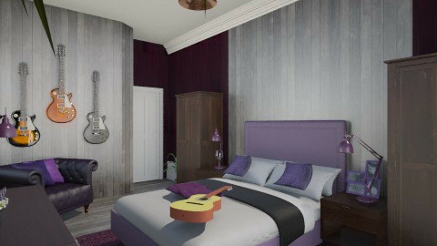 Purple Retro  - Retro - Bedroom  - by Lisett