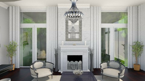 Formal Living area - Glamour - Living room  - by AshleyLabxtchh