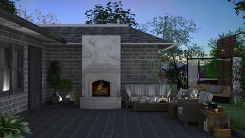 romantic patio  - Garden  - by nat mi