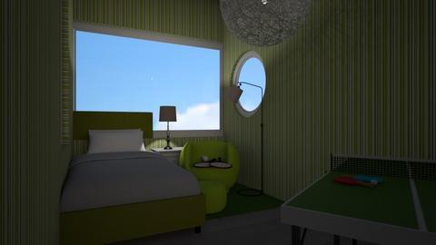 Tennis bedroom - Kids room  - by flowerpandafox