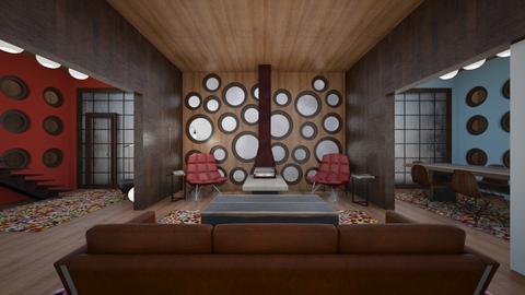 Beehive House - Living room  - by amyskouson