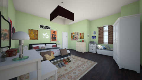 Main Room - Eclectic - Bedroom  - by Arianna Lanz