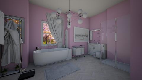 pink small bathroom - Bathroom  - by future_dream_room