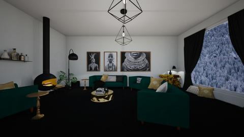 green and gold - Living room  - by guacamolestyle