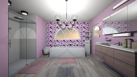 Lilac Bathroom - Bathroom - by JoJo Y