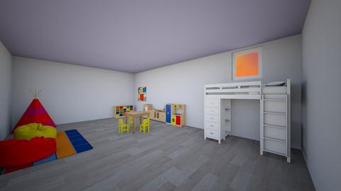 MoreMirror Kid bedroom - Bedroom - by Meg_