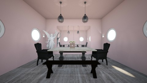 Pink symmetric - Modern - Living room - by Dream Interior