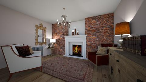 Grand Old Living Room - Classic - Living room  - by KylaTH