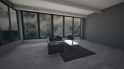 Foggy Lone Wood - Living room  - by summer21