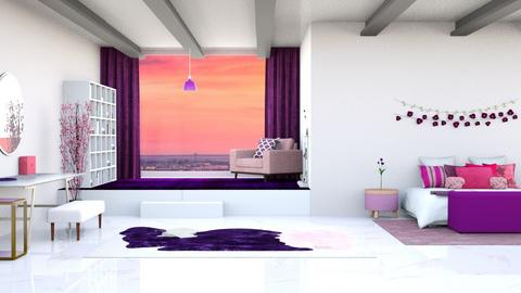 Pink and Purple - Living room  - by _luciasalvador