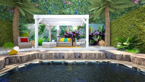 Tropical patio - Garden  - by rosanebpf