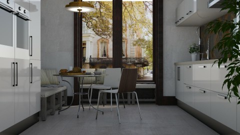 City Kitchen Corner - Classic - Kitchen - by millerfam
