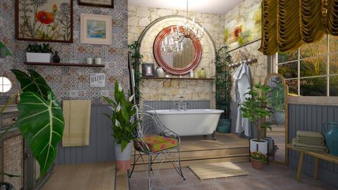 boho bath R - Eclectic - Bathroom  - by donella