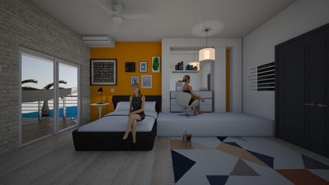 beach bedroom - Bedroom - by anaclaraalvesjianelli