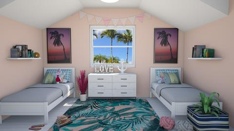 Coastal Cottage Bedroom - Kids room  - by lovedsign