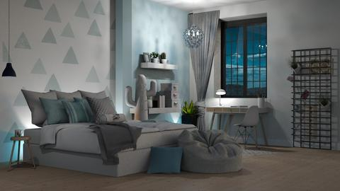 something blue - Bedroom - by aggelidi 12312