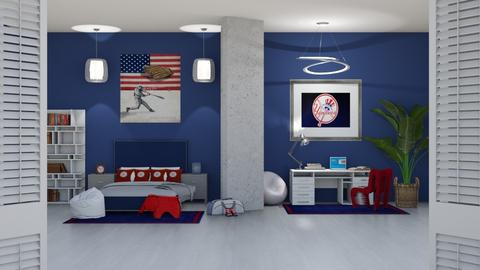 BASEBALL DAYS - Masculine - Bedroom  - by RS Designs