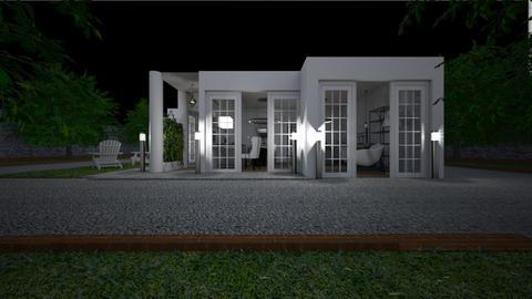 Home at night3 - Garden  - by lovasemoke