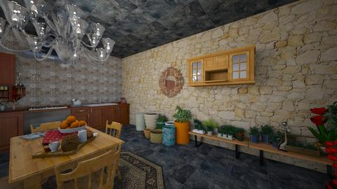 Casa de Bruxa Cozinha - Rustic - Kitchen  - by Mariesse Paim