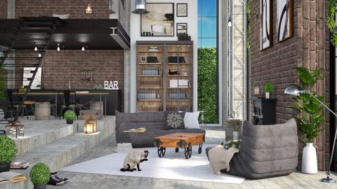 Industrial  - Living room  - by ArtHousedeco