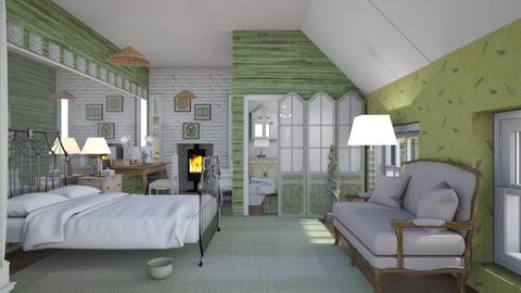 French sage - Global - Bedroom  - by augustmoon