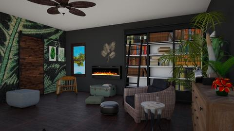 Tropical Copper 3 - Modern - Living room  - by IdaJo
