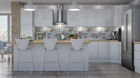A Modern Kitchen - Kitchen  - by GraceKathryn