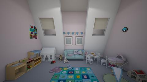 rosy posy pastel playroom - Kids room  - by minty_builds