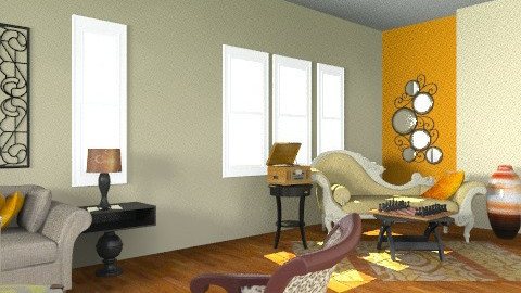 Living Room -12 - Vintage - Living room  - by PRATI