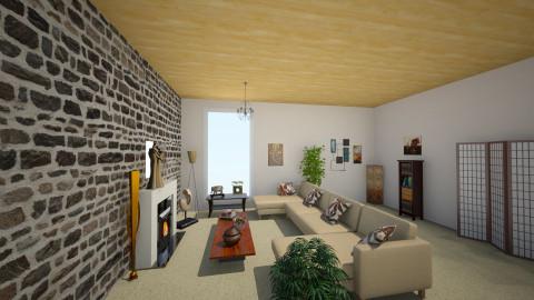 LivingRoom1 - Rustic - Living room  - by Mokka