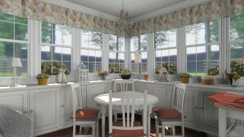 Breakfast nook - Country - Kitchen - by alleypea