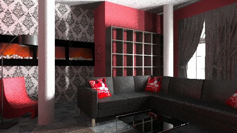Black and Red - Modern - Living room - by heyimsonia